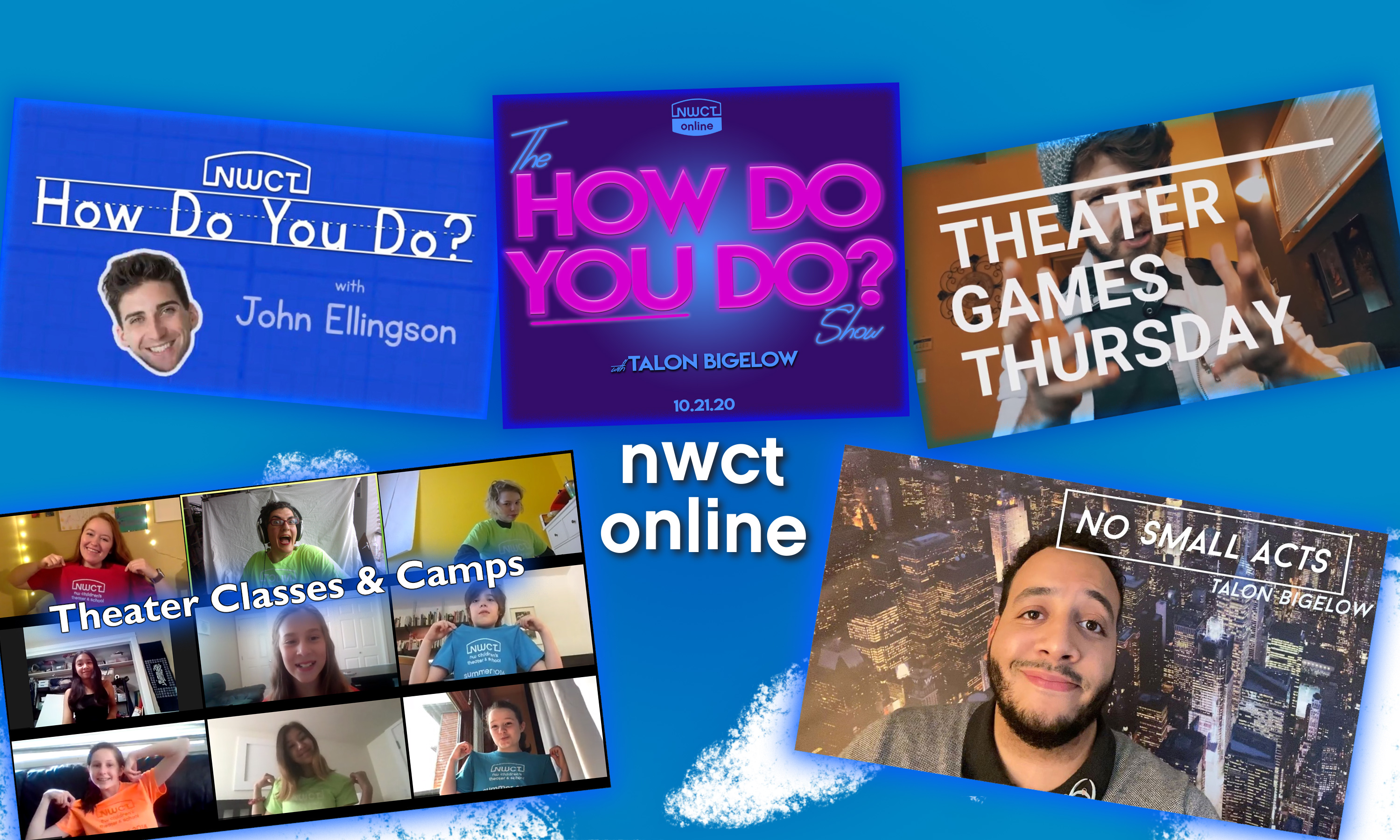 NWCT Online: How Do You Do, Theater Game Thursday, Online Classes & No Small Acts